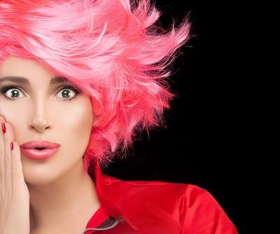 Pink Hair Crop