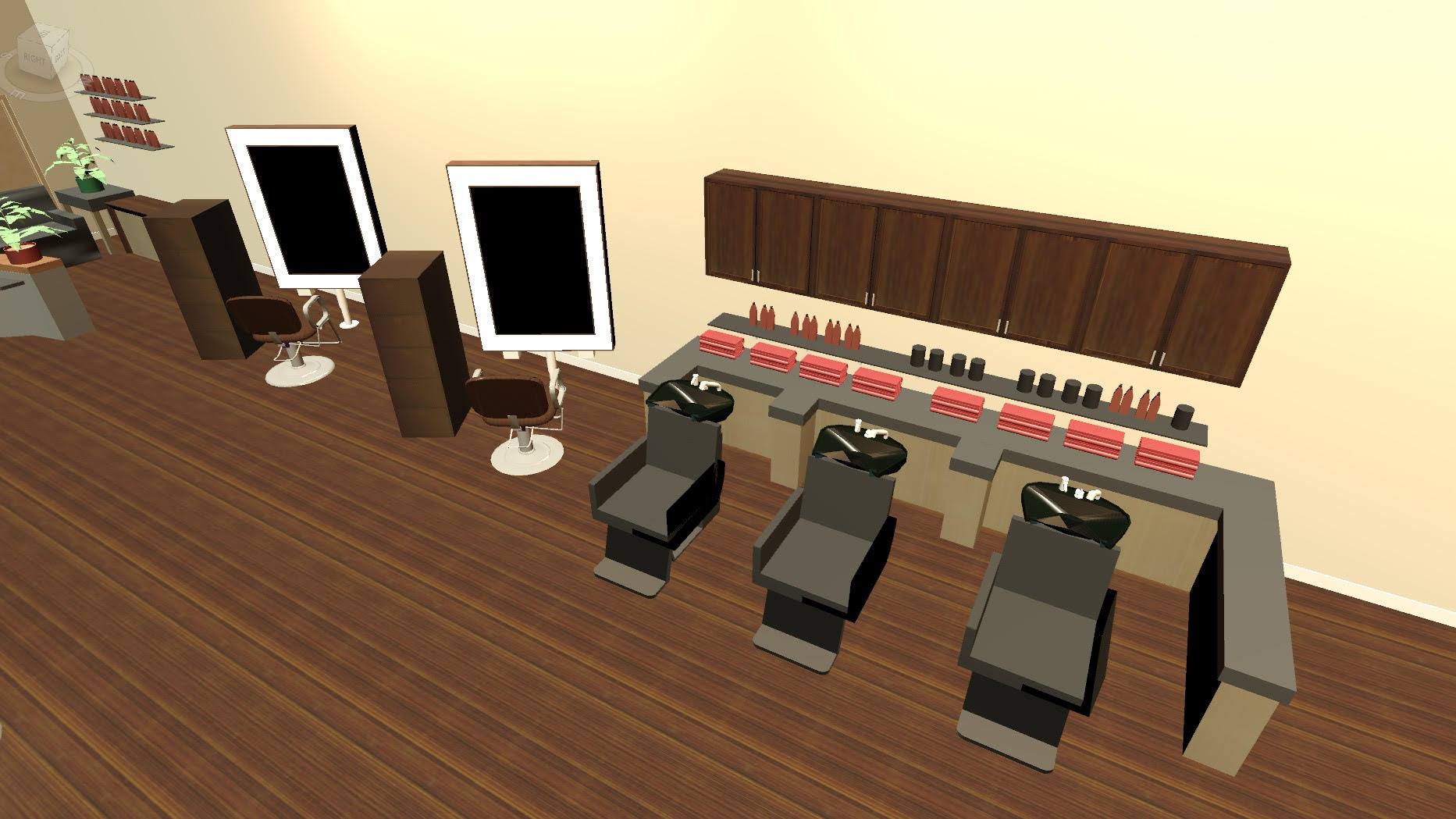 Elevate Hair Salon Stylist Stations